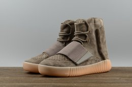 Wholesale Geometric Solids - High quality Yeezus 750 Boost with Glow in the dark bottoms Outdoor boots Professional Kange West Athletic Sneakers with Original box