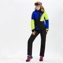Wholesale Trousers Suits For Women - Wholesale- High Quality Women's Ski Suits Ski Jacket and Pant Snowboarding Suit Coat and Trousers Winter Ski Clothing for Women