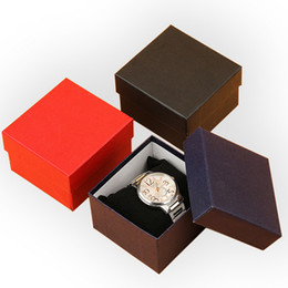 Wholesale Paper Watch Gift Box - Durable Jewelry Watch Box Case Fashion 1pc Elegant Pure Color Paper Present Gift jewelry Boxes Case Display Storage Organizer