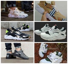 Wholesale Custom Designer Shoes - 2017 New Design Huaraches Running Shoes For Women & Men, High Quality Air Huarache Famous Brand Custom Designer Sport Sneakers Size 5.5-12