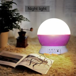 Wholesale Moon Night Light Children - Christmas Decoration night light Ultra-quiet rotating dream projection lamp Romantic star & moon LED night light for child party christmas