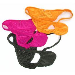 Wholesale Rio L - Mens Brazilian tanga Thong Narrow waist Eyelet Fashional Panties G6035 Front Pouch Rio back Half Back