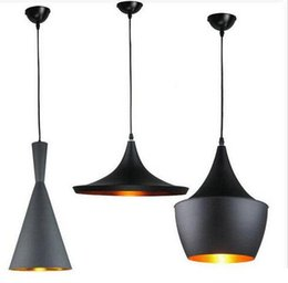 Wholesale Dixon Pendant Lamp - 85-265v Tom Dixon (Tall, Fat & Wide) Pendant Lamp Creative DIY Aluminum Pendant Lights Black White Restaurant   Bar Chandeliers Light Lights