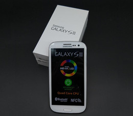 Wholesale S3 Inch 3g - Original Samsung Galaxy S3 i9300 Quad core Ram 1GB Rom 16GB 4.8 inch 8MP GSM 3G Unlocked Refurbished Cell Phone