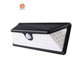 Wholesale Wholesale Solar Leds - 73 LEDs LED Solar PIR Lights 730LM Outdoor Waterproof Motion Sensor Solar Lamp LED Patio Lights Wall Security Lamp Garden Light
