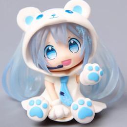 Wholesale Miku Hatsune Figurine - Action figure Hatsune Miku Pink Blue Bear Sexy Lovely Cute Cartoon Doll 6cm Box-packed Japanese Anime Figurine