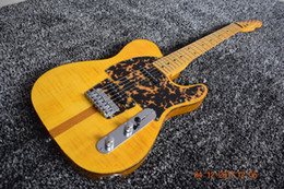 Wholesale Professional Cat - RARE HS Anderson & Hohner Prince Madcat Mad Cat Tele Caster Flame Maple Top Yellow Electric Guitar Leopard Pickguard Red Turtle Binding