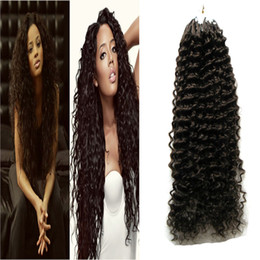 2019 extensiones de cabello humano virgen micro loop Extensiones de cabello humano de color natural de 100 g extensiones de cabello humano rizado micro bucle extensiones 100% cabello humano de la Virgen Remy de la India 1g extensiones de cabello humano virgen micro loop baratos