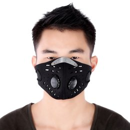 Wholesale Brand Filters - brand Unisex nylon fabric Anti-dust Anti-pollution Air Filter Breathable Face Masks suitable Cycling Riding Hiking +B