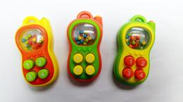 Jouets pour bébé en Ligne-Vente en gros- 1 X Vente Chaude Interactive Téléphone Bouton Poussoir avec son pour Bébés Clochette Développement Bébé Hochets Mobiles Jouet En Plastique