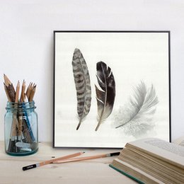Wholesale Wholesalers Bird Nest - 60*60Cm Wall Art Decor Bedroom Wall Paintings Backdrop Paints Dining Room Hallway Decorators Bird Nest Paintings Unframed 3 Panels