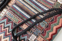 Vente en gros- 2017 Femmes Vintage Sac À Dos Femme Gypsy Bohème Boho Chic Aztèque Folk Tribal Ethnique Tissu Brun Chaîne Cordon Sac À Dos Sac ? partir de fabricateur