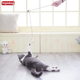 Wholesale Play Ponies - Hipidog 2017 Funny cat stick Pet Product Pet Toys Cat Toys interactive With Cat Playing Stick Funny Mouse Fish Pony Spherical