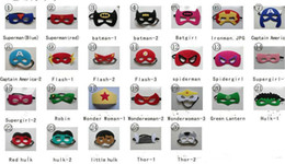 Wholesale Costume Eye Face Mask - Superhero mask Cosplay Superman Batman Spiderman Hulk Thor Princess Halloween Christmas children men women Party Costumes Eye Masks gifts