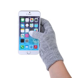 Wholesale Colorful Cotton Gloves - Glove Fashion touch screen Gloves colorful&Soft Cotton Winter Gloves Warmer Smartphones For Driving Glove Gift ForMen Women DM#6
