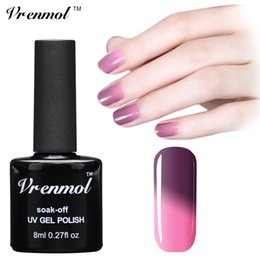 Argentina Al por mayor-Vrenmol 1pcs Temperatura que cambia de color UV Gel Empapa de 29 colores Verniz Lacquer Thermal Mood Polish Nail Polish supplier mood gel nails Suministro