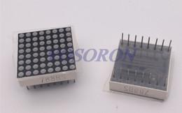 Wholesale 8x8 Led Dot Matrix - Wholesale- Free shipping 10pcs 8x8 8*8 Mini Dot Matrix LED Display Red Common Anode Digital Tube 16-pin 20mmx20mm 1.9mm
