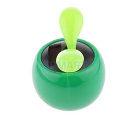 Wholesale Solar Power Flower Pot - Wholesale-Cute Solar Powered Flower Pot Flip Flap Leaf Dancing Toys Gifts Random Color