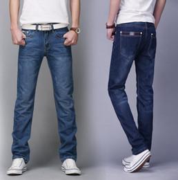 Wholesale Slim Straight Pants Men Wholesale - Wholesale-2016 Plus size Special Offer Limited Zipper Fly Zipper Man On Behalf Of Straight Men's Trousers Jeans In Slim Waist Four Pants