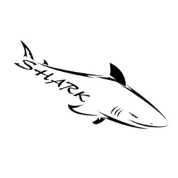 Wholesale Ferocious Animals - SHARK ferocious cool style car sticker with reflective material