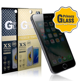 Wholesale Spy Glasses Package - Anti-Spy 9H Premium Privacy Tempered Glass Screen Protector Full Cover For iPhone 7 Samsung S6 S7 Google Film with Deluxe Paper Package