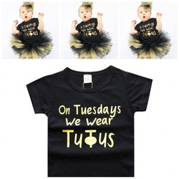 Wholesale Baby Boy Stamps - Baby Clothes Boys Girls INS Newborn Cotton Casual Hot Stamping Letter Short Sleeve T-Shirt Baby Tops Tees Infant Kids Clothing XY133