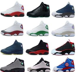 Wholesale Best Running Shoe Prices - New Mens womens Basketball Shoes Air Retro 13 Bred Black True Red Discount Sports Shoe Athletic Running shoes Best price Sneakers