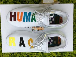 Wholesale Williams Carbon - Top Quality NMD Human race Pharrell Williams 7 Colorful Real Boost Running Casual Shoes Real Carbon Fiber With Original Box Size 36-48