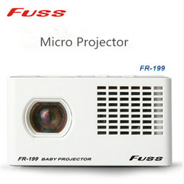 Wholesale Baby Business - Wholesale-2016 Real New Dlp Digital Projector 640x480dpi Pico Projector Fuss Fr-199 Micro Projector Home Portable Led Baby Pocket Cinema