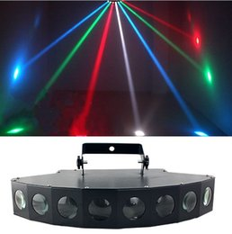 Wholesale Led Bar Rgb Dmx - New 80W 8 Heads LED RBGW Stage Lights Beam Digital Display DMX Show Dance Disco Bar Xmas Home Party DJ Lighting LLFA