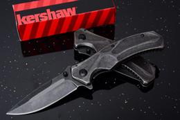 Wholesale Assisted Pocket Knives - Promotion Kershaw 1300 Flipper Assisted Open Folding Knife 3Cr13 Black Stonewashed Blade EDC Pocket Knives With Original Box
