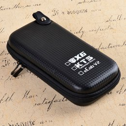 Wholesale Ecab Cigarette Kit - Wholesale-Electronic Cigarette Case X6 KTS Zipper Case E Cigarette leather case bag for X6 kts eCab v2 electronic cigarette starter kit
