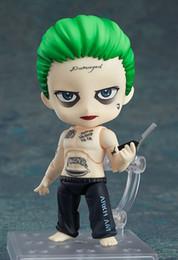 Wholesale Dolls Batman - Popotoyfirm Nendoroid Anime Q Ver Batman Joker Suicide 671# 10cm PVC Action Figure Toy Doll Model for Suicide Squad kids gift