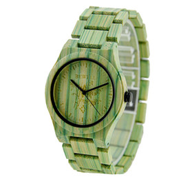 Wholesale Green Colour Watches - 2017 Natural Bamboo Watches Band Men's Wristwatch Fashion Japan Movement Analog Colours Watch Water Resistant Watches