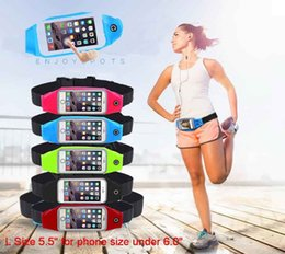 "Wholesale Blackberry Touch Phones - Running Sports Fitness Cell Phone Pouch Case Belts Waterproof Jogging Fitness Waist Band Bag for 4.7 5.5"" Smartphone for iPhone Touch Screen"
