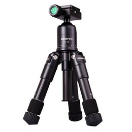 Wholesale Tripod Macro - CAMBOFOTO M225+CK30 Portable Aluminum Tripod Compact Desktop Macro Mini Table Tripod with Ball Head for Sony Canon Nikon Camera