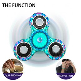 Wholesale Kids Bike Wholesale - New Fidget Spinner Mandala Style EDC Hand Spinner Tri For Kids Autism ADHD 8 Styles Anxiety Stress Relief Focus Handspinner Finger toy