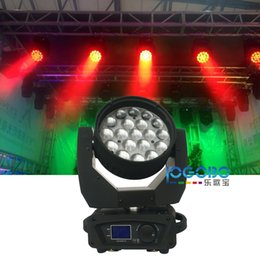 Wholesale Cheap Led Head Lights - China Moving Head Stage Lights 12Wx19 Mac Aura Zoom DMX Led Moving Head Beam Led Wash American DJ Club disco ball Par Laser Lightings Cheap