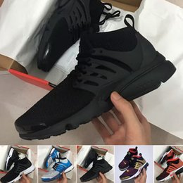 Wholesale Breathe Lighting - 2017 TOP Air PRESTO BR QS Breathe Black White Mens causal Shoes Sneakers Women casual Shoes For Men Sports Shoe,Walking designer shoes