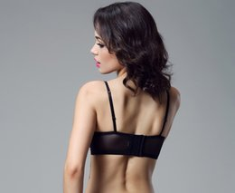 Wholesale Organic Cotton Inserts - Exclusive Sexy Lingerie Three Quarter Cup Underwire Soft Black Lace Push Up Bra Elegant for Women Bralette with Insert Padding