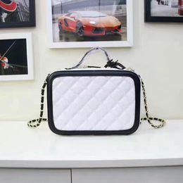 Wholesale Number Black Diamond - New wholesale serial number cowhide caviar real leather top quality cosmetic case chain evening bag handbag shoulder bag messenger bag plaid