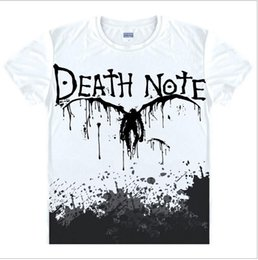 Wholesale China Man T Shirt - Wholesale- Death Note T Shirts Man Short Sleeved Men T-Shirt fashion Tops China Size Mens Top Cotton Tees Free Shipping Casual Tshirts