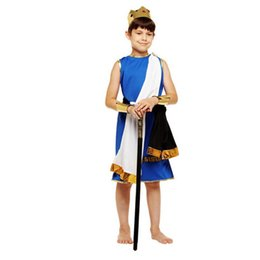 Costume du roi pharaon en Ligne-Enfants Super Boys Prince Eypte Costume Thème Roi Élégant Reine Pharaon Cosplay Vêtements Ensemble Halloween Carnaval Costumes Déguisements
