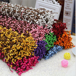 Wholesale Wholesale Pip Garland - Pip Berry Decorations Garlands 10 Colors Available Decorative Artificial Silk Flowers With 40cm for DIY Wedding Wreaths For Home Garden