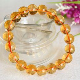 Wholesale Round Natural Gemstone Bead Stretch - High Quality Natural Genuine Brazil Yellow Citrine Stretch Bracelet Round Beads 8mm,10mm,12mm Jewelry Beads Marriage Gemstone 04394