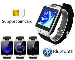 Wholesale Android Watch 3g - Dz09 Smartwatch Phone Updated Version Android 4.4 1.54 Inch 3G MTK6572 1.2GHz Dual Core 512MB RAM 4GB ROM Bluetooth Smart Watch