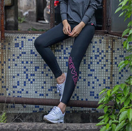 Wholesale tight women s pants - Spring and Autumn Leisure Night Run Sports Pants Girls Outdoor Fitness Pants Yoga Quick Dry Stretch Tights