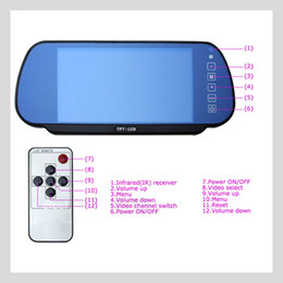 Wholesale Mp5 Videos - 7 Inch Car Monitor MP5 Bluetooth TFT LCD 2 Way Video In Fit For Camera DVD Head Pillow PAL NTSC Rearview