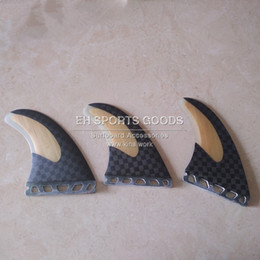 Wholesale Futures Surf - surf surfboard long board side fin 12K carbon and bamboo future base fins 3 pcs set