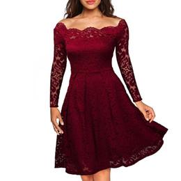 Женское винтажное кружево с цветочным принтом Элегантное платье с длинным рукавом с круглым вырезом и прозрачным коктейльным платьем от